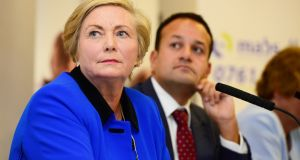 Tánaiste Frances Fitzgerald has stepped down due to the growing controversy over the handling of the Maurice McCabe case. Photograph: Cyril Byrne