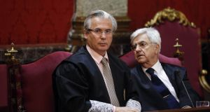Spanish judge Baltasar Garzón has criticised the terrorism charges brought against a group of young people accused of involvement in the attack of two civil guards last year in a bar in northern Spain. Photograph: Andrea Comas/Reuters
