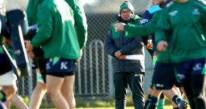 Coach Kieran Keane: Connacht are light in the back row with both Eoin McKeon  and Jake Heenan   joining Jarrad Butler and  Seán O'Brien on the injury list. Photograph: James Crombie/Inpho