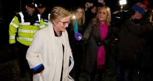 Former tánaiste Frances Fitzgerald  arriving at Fine Gael selection convention at Finnstown Castle Hotel Finnstown, Lucan, Co Dublin. Photograph:  Tom Honan