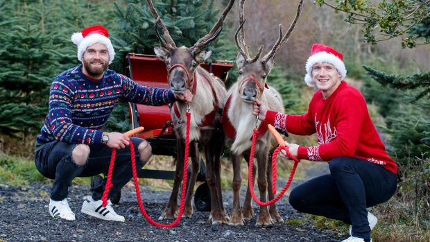 GAA stars Aidan O'Shea and Paul Flynn get in festive mood for Gift of a Lift this Christmas.
