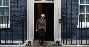 London is expected to pay more than €50 billion. Above, British prime minister Theresa May. Photograph: Neil Hall/EPA