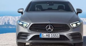 The exterior images show that the CLS is almost entirely identical to the S-Class and E-Class Coupes at the front