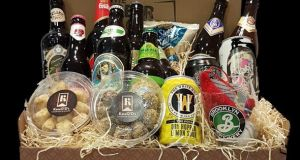 The Beer Club's  beer hampers look particularly good and come in small (€49.99) or large (€79.99) and are stocked with six or 12 bottles or cans, some beer snacks, a glass and Kate O'Ds beer truffles.