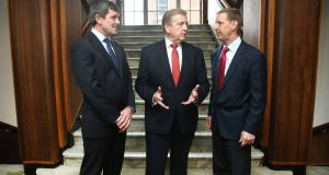 Pictured at the jobs announcement are IT development centre leader Paul O'Dwyer, Minister of State for Employment Pat Breen and Equifax interim chief information officer  Mark Rohrwasser.