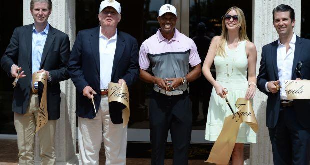 ec3c54bc Eric Trump, Donald Trump, Tiger Woods, Ivanka Trump and Donald Trump Jr.