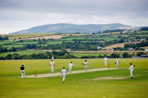 Cricketers: Wexford Cricket Club take on Railway Union Cricket Club at Oak Hill Cricket Grounds, Kilbride, Co Wicklow. Photograph: Tom Honan.