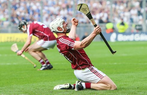 Galway Hurling: Joe Canning celebrates Galway's victory over Waterford in the 2017 Hurling Final Photograph: INPHO/Tommy Dickson