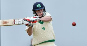 IIreland's Kevin O'Brien top scored with 78 in their ICC InterContinental Cup against Scotland. Photo: Inpho