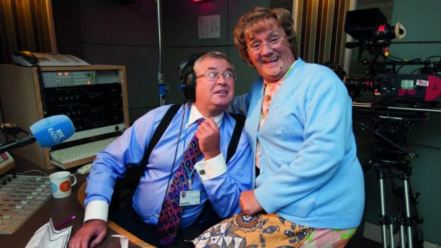 Funny Friday: Joe Duffy with Brendan O'Carroll during filming of Mrs Brown's Boys D'Movie