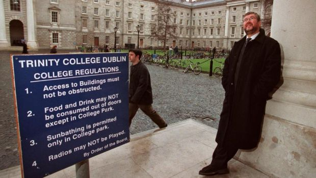 "Trinity College Dublin, 2000: Joe Duffy, the first in his family to do the Leaving Cert, went to the university after a few years working as a ""jumped-up messenger boy"" for an advertising agency. Photograph: Dara Mac Dónaill"