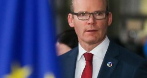 Minister for Foreign Affairs Simon Coveney. Photograph: Stephanie Lecocq/EPA