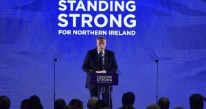 Democratic Unionist Party MP Ian Paisley Jr delivers a speech during the annual DUP party conference at La Mon House on November 25th, 2017. Photograph: Charles McQuillan/Getty Images