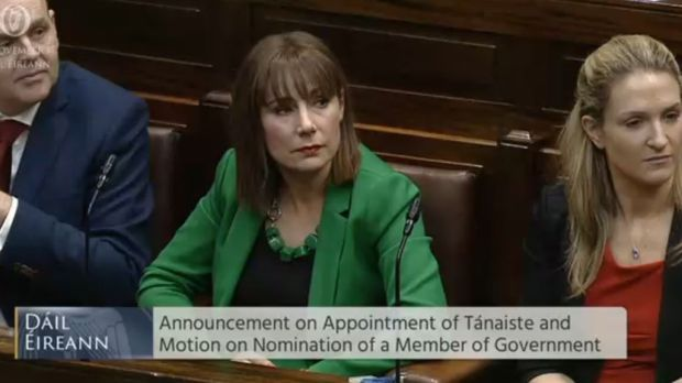 Josepha Madigan is promoted to the Department of Culture, Heritage and the Gaeltacht. Image: Dail video