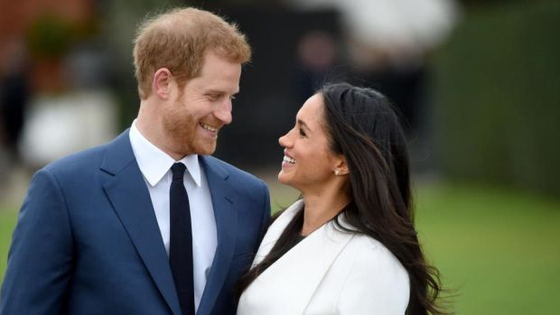 Royal couple: Prince Harry and Meghan Markle after announcing their engagement on Monday. Photograph: Facundo Arrizabalaga/EPA