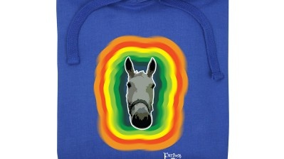 Lovely horse: T-shirts and hoodies from hairybaby.com are a scream