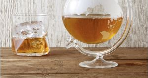Globe-shaped whiskey decanter from iwantoneofthose.com
