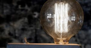 Gift idea: Designist   on Dame St in Dublin, or online at shop.designist.ie, have Edison or antique filament light bulbs  set in concrete blocks for €46.50