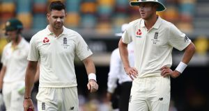 James Anderson and Stuart Broad: experienced duo will be pivotal to England's hopes in the second Test at Adelaide.  Photograph:  Ryan Pierse/Getty Images