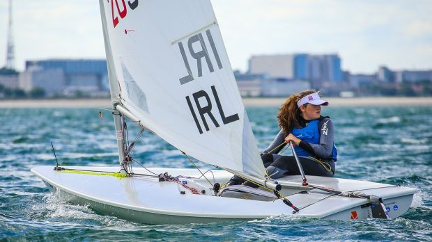 Irish Youth Worlds Radial hope Sally Bell from Belfast Lough. She has been named top Northern Ireland youth sailor. Photograph: David O'Brien