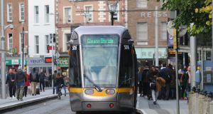 Luas fares will increase by 10 per cent on monthly and annual fares. Photograph: Aidan Crawley
