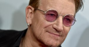 "U2 singer  Bono had a ""brush with mortality""  last year that has shaped the band's new album. Photograph:  Axelle/Bauer-Griffin/FilmMagic"