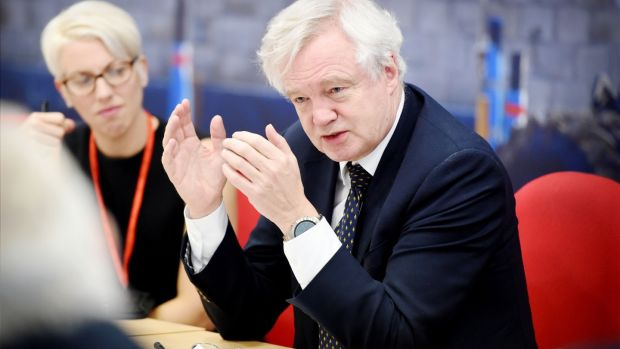 """Before the talks began, British ministers ruled out accepting the Commission's preferred sequencing of talks, which demanded progress on the three priority issues before moving on to talks about trade. Brexit secretary David Davis [above] caved in on the first day of formal negotiations."" File photograph: JCB/PA Wire"