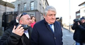 Denis O'Brien leaving the Four Courts last year. Photograph: Alan Betson