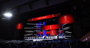 A general view during the final draw for the 2018 Fifa World Cup Russia at the State Kremlin Palace in Moscow, Russia. Photo: Shaun Botterill/Getty Images