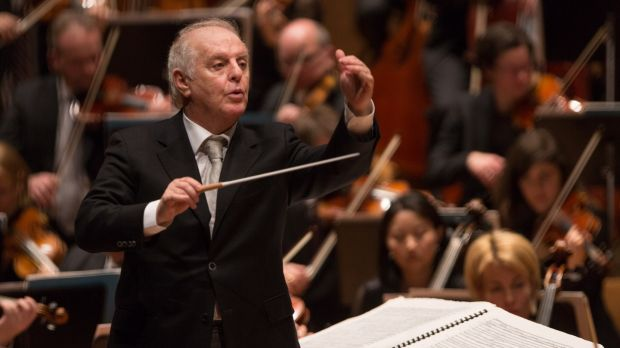 House conductor at the Staatsoper in Berlin, Daniel Barenboim. Photograph: Gordon Welters