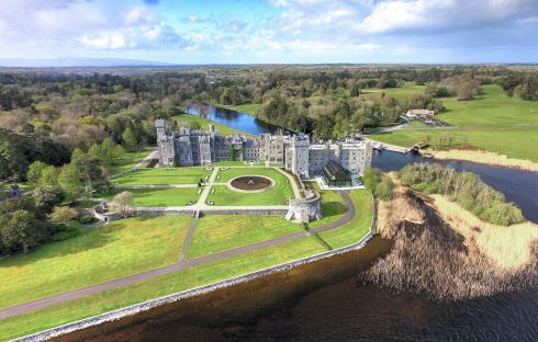 Ashford Castle, County Mayo taken from  Exploring Ireland's Castles by Tarquin Blake, published by The Collins Press, 2017