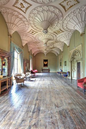 Charleville Forest Castle, County Offaly. The first-floor saloon.