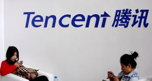 Tencent Holdings endured its worst week in almost two years, declining 7.4 per cent. Photograph: Kim Kyung-Hoon/File Photo
