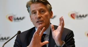 "Sebastian Coe: ""With the welfare of athletes and the integrity of competitions at stake, this is not a process which should be rushed.""Photograph: Jean-Pierre Amet/Reuters"