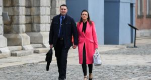 Garda Keith Harrison and Marisa Simms at the Charleton tribunal in Dublin Castle. Photograph: Gareth Chaney/Collins