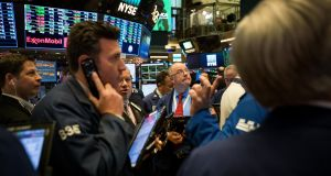 The New York Stock Exchange on Friday:  stocks fell and gold spiked higher with treasuries on a report Michael Flynn would say US president Donald Trump directed him to contact Russians. Photograph: Michael Nagle/Bloomberg