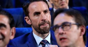 England manager Gareth Southgate looks on during the draw for the 2018 World Cup. Photo: Shaun Botterill/Getty Images