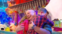 The moment a family are reunited on The Late Late Toy Show