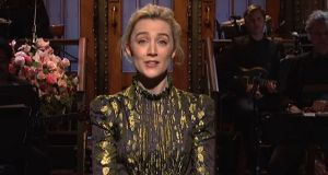 Saoirse Ronan on Saturday Night Live. Image: Youtube
