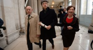 Bob Geldof at Dublin City Hall where he returned his freedom of the city award. Photograph: Cyril Byrne / THE IRISH TIMES