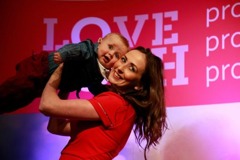 EIGHTH AMENDMENT: Wendy and Matthew Grace (9) from Dublin at the Pro Life Campaign's national conference which took place on Sunday in the RDS, Dublin. Photograph: Nick Bradshaw