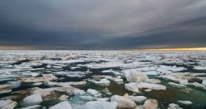 Sea ice in Victoria Strait, Nunavut, Canadian Arctic: the impact of current climate change on the planet may be larger than expected. Photograph: Cory Glencross/iStock/Getty