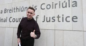 Jason Lester (18) from Brookview Close, Tallaght, Dublin had a guilty verdict against him in relation to an anti-water charges protest in Jobstown overthrown on appeal. Photograph: Collins Courts
