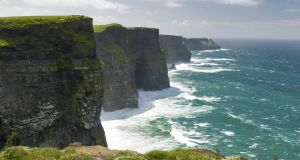 The Cliffs of Moher in Co Clare, one of Ireland's most popular tourist destinations