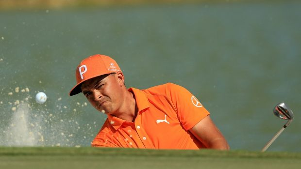 Rickie Fowler during the final round of the Hero World Challenge. Photograph: Mike Ehrmann/Getty Images