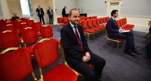 Garda whistleblower Sgt Maurice McCabe Garda at the Charleton tribunal. Photograph: Alan Betson