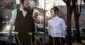 Menashe Lustig as Menashe, with Ruben Niborski. 'I was just blown away by this portly, funny comedian,' says the director. Photograph: Federica Valabrega