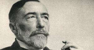 Joseph Conrad: pondering the Eurocentric, sometimes openly racist focus of his narration, Jasanoff gives Conrad the conditional pardon due to one who was both part of and ahead of his time. Photograph: Bettmann/Getty