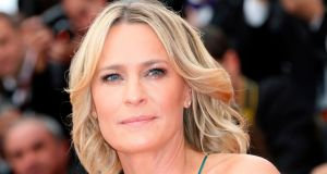 Robin Wright is to play the lead in the final season of 'House of Cards'. Photograph:   Valery Hache/AFP/Getty Images