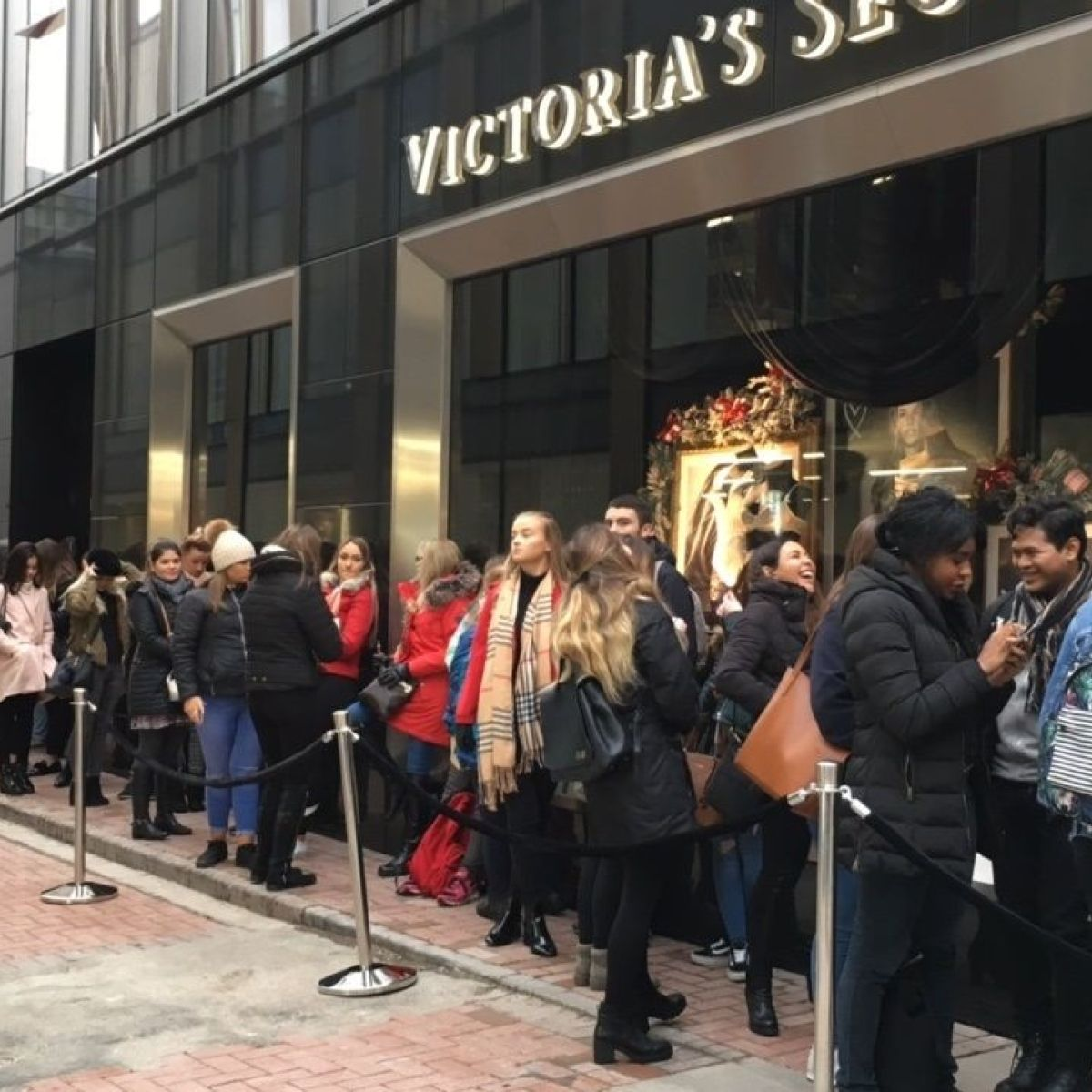 How To Make A Book Cover Out Of A Victoria S Secret Bag ~ Protest at victorias secret as 500 queue for dublin opening